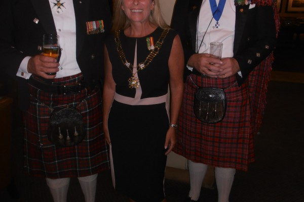 Cmd Michael Allen and Grand Bailiff Tamra Capstick-Dale and Anthony Lister