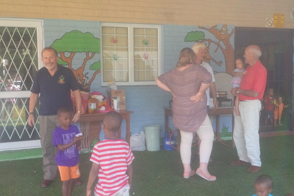Fun was had by all on a recent visit to the Christine Revell Children's Home.