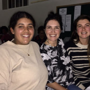 Commanery member Hannah enjoying the quiz evening with friends