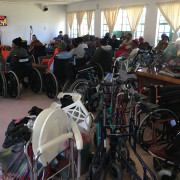 Crutches, wheelchairs, bath chairs, Zimmer frames, toilet frames, blankets and more for those that need them most